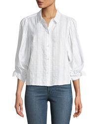 BCBGeneration - Variegated Stripe Button-down Shirt - Lyst