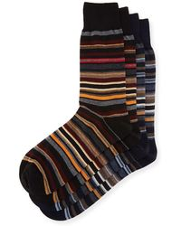Punto - Two-pair Striped Socks - Lyst
