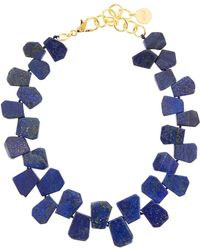Nest - Lapis Statement Necklace - Lyst