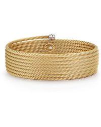 Alor - Classique Cable Wrap Bracelet W/ Diamond Charm - Lyst
