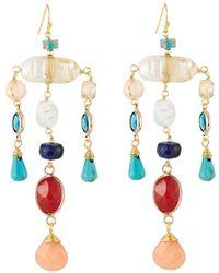 Nakamol - Multicolor Pearl & Crystal Dangle Earrings - Lyst