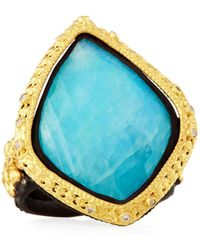 Armenta - Old World 18k Turquoise & Moonstone Kite Cocktail Ring Size 7 - Lyst