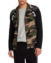 Valentino Camo Jacket Sweater - Green