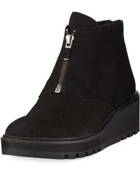 Eileen Fisher - Casey Wedge Lace-up Booties - Lyst