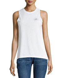 David Lerner - Hello-graphic Muscle Tee - Lyst