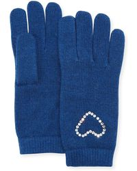Neiman Marcus - Crystal Heart Cashmere Gloves - Lyst