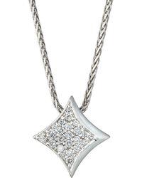 Alex Woo - 14k White Gold Diamond Little Big Vegas Necklace - Lyst