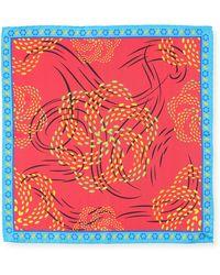 Bugatchi - Polka-dot Swirl Silk Pocket Square - Lyst