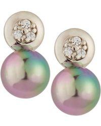 Majorica - Crystal & Pearl Drop Earrings - Lyst