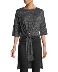 Kensie | Space-dye Short-sleeve Split Tunic | Lyst