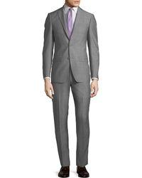 Michael Kors - Slim-fit Neat Herringbone Two-piece Suit - Lyst