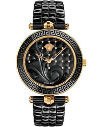 Versace - 40mm Vanitas Black Ceramic Watch W/ Diamonds - Lyst