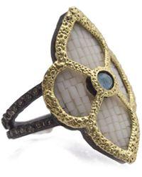 Armenta - Old World Mosaic Scroll Ring W/ Diamonds - Lyst