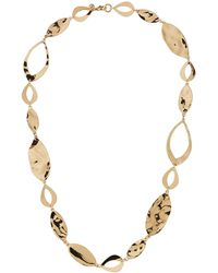 Lydell NYC - Disk & Link Necklace 24l - Lyst
