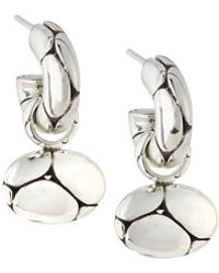 John Hardy - Kali Oval Pebble Hoop Drop Earrings - Lyst