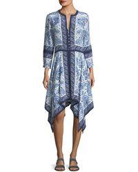 Joie - Cyntia Scarf Printed Silk Handkerchief Dress - Lyst