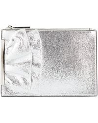 Christian Siriano - Whoopie Metallic Clutch Bag - Lyst