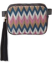 Christian Siriano Tatiana Colorblock Chevron Belt Bag - Multicolour