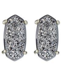 Kendra Scott Betty Druzy Stud Earrings Platinum - Multicolour