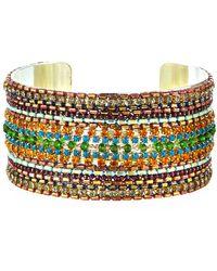 Nakamol Large Layered Bead Cuff Bracelet - Multicolour
