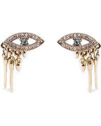 Lulu Frost Discovery Eye Stud Earrings - Metallic