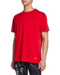 Purple Relaxed-fit Jersey T-shirt - Red