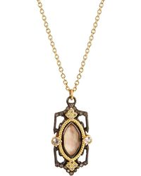 Armenta Old World Pointed Doublet Pendant Necklace - White