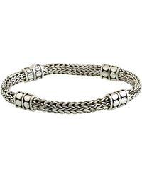 John Hardy - Dot Four-station Medium Silver Bracelet - Lyst