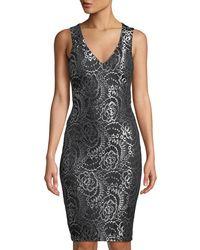 dab918735de1 Guess Dress Sleeveless Crisscross Keyhole Ruched Mini in Black - Lyst