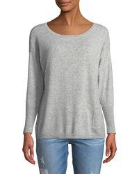 81e31e625e22 Lyst - Neiman Marcus Cashmere Boat-neck Sweater in Natural