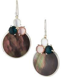 Ippolita Wonderland Overlapping Shell & 3-stone Earrings In Moroccan Dusk - Multicolour