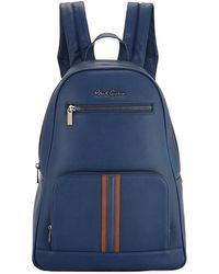 Robert Graham Perforated Faux-leather Zip Backpack - Blue