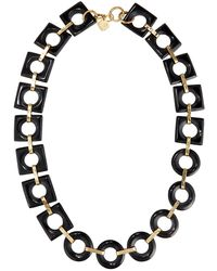 Ashley Pittman - Mbele Geometric Dark Horn Link Necklace - Lyst