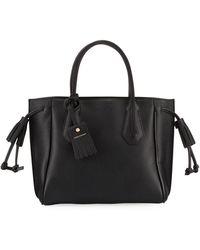 Longchamp Penelope Small Leather Tote - Black