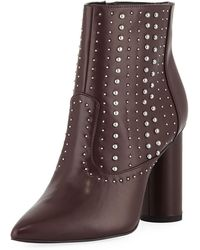 BCBGeneration - Hollis Studded Faux-leather Booties - Lyst