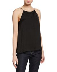 Knot Sisters Adjustable Spaghetti Strap Top - Black
