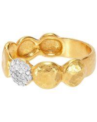 Gurhan - Spell Pebble 22k Diamond Lentil Eternity Ring Size 7.5 - Lyst