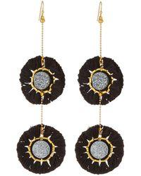 Panacea - Double Druzy Fringe Drop Earrings - Lyst