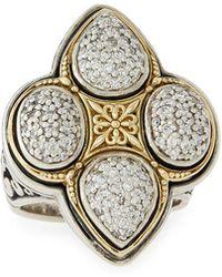 Konstantino - Pave Diamond Clover Ring - Lyst