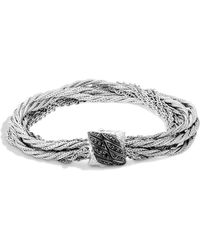John Hardy - Classic Chain Silver Lava Multi-strand Twisted Bracelet - Lyst