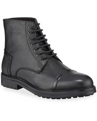 Zanzara Men's Lennon Rugged Leather Boots - Black