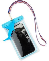 Neiman Marcus Text On The Beach Water-resistant Cell Phone Pouch - Blue