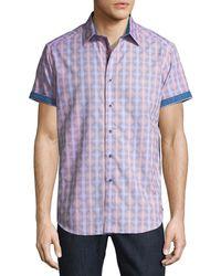 Robert Graham - Short-sleeve Classic-fit Hazelwood Sport Shirt - Lyst