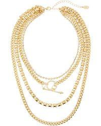 8 Other Reasons Ziggy Multi-chain Necklace - Metallic