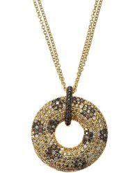 Roberto Coin - 18k Gold Pendant Necklace W/ Diamond Flowers - Lyst