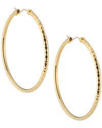 Roberto Coin - 18k Martellato Hoop Earrings - Lyst