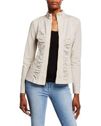 XCVI - Agnese Ruched Lace-up Jacket - Lyst