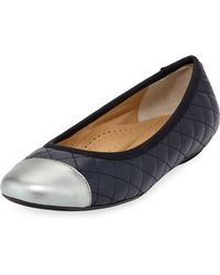 Neiman Marcus - Saucy Quilted Ballerina Flats - Lyst