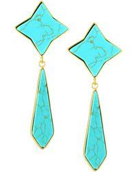 Panacea - Textile Drop Earrings - Lyst