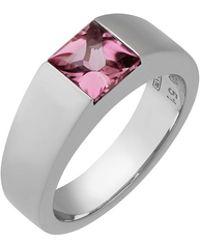 Cartier - Tank De 18k Pink Tourmaline Ring - Lyst